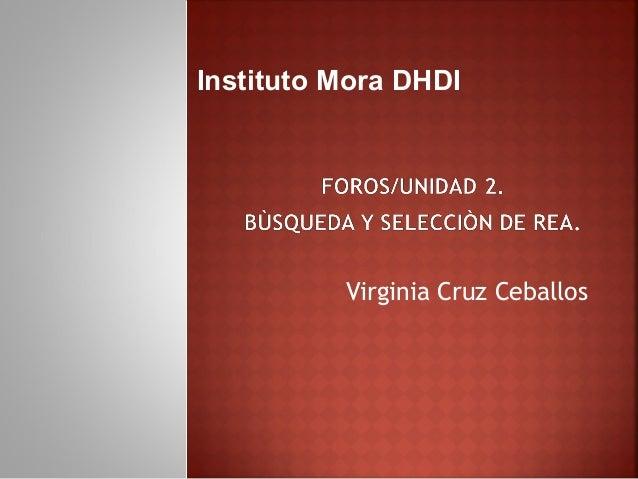 Virginia Cruz Ceballos Instituto Mora DHDI