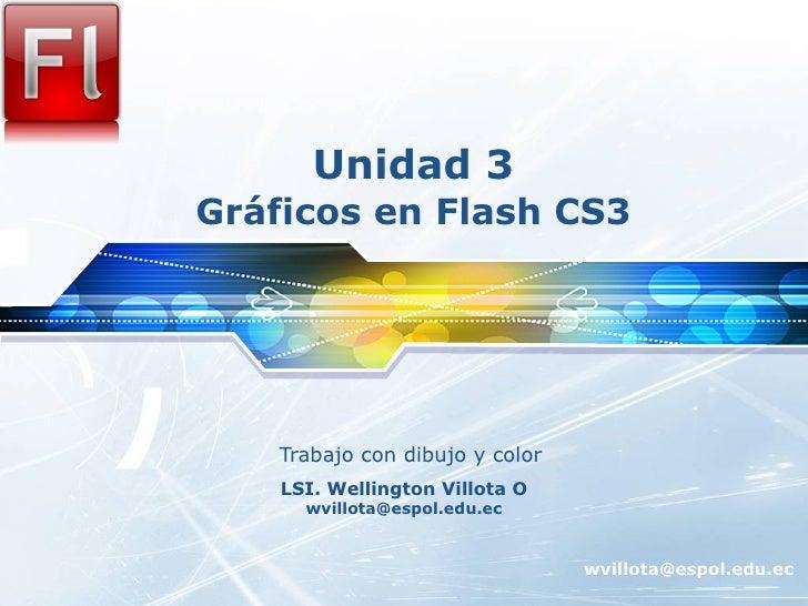 Unidad 3 Gráficos en Flash CS3 Trabajo con dibujo y color