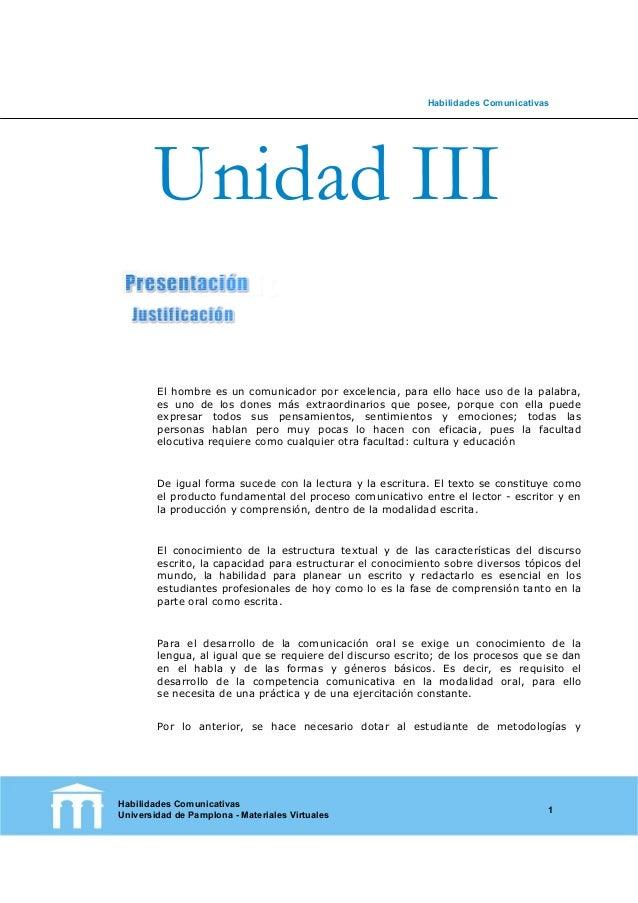 Unidad 3 habilidades comunicativas unipamplona