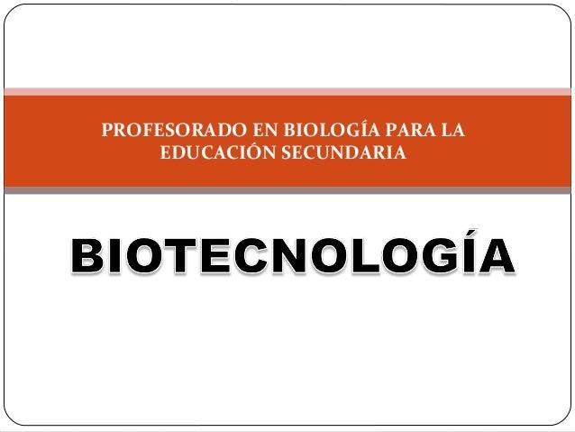 """PROFESORADO EN BIOLOGÍA PARA LA EDUCACIÓN SECUNDARIA INSTITUTO SUPERIOR DE FORMACIÓN PROFESIONAL """"LA MERCED"""" N° 8.155 MATE..."""
