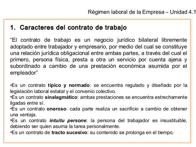 El contrato de trabajo caracteres y formalidades Contrato laboral de trabajo