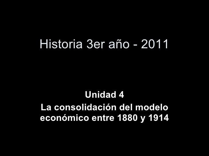 Consolidacion Economica 1880-1914 contexto internacional