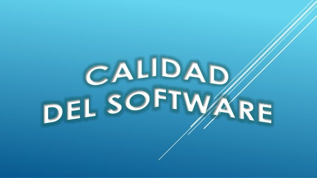 Por el concepto de Calidad se entiende: La aptitud de un producto o servicio para satisfacer las necesidades del usuario...
