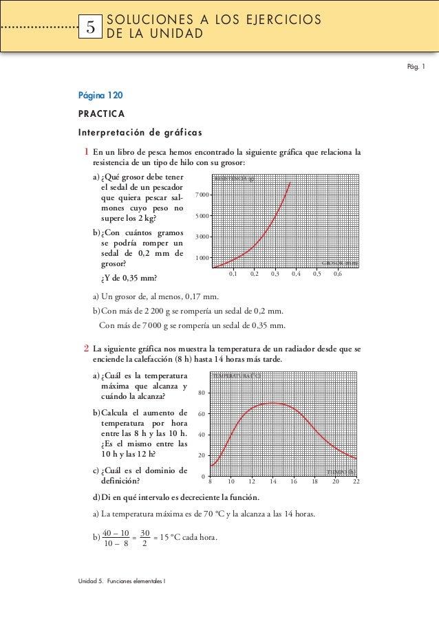 SOLUCIONES A LOS EJERCICIOS  5  1       DE LA UNIDAD                                                                      ...