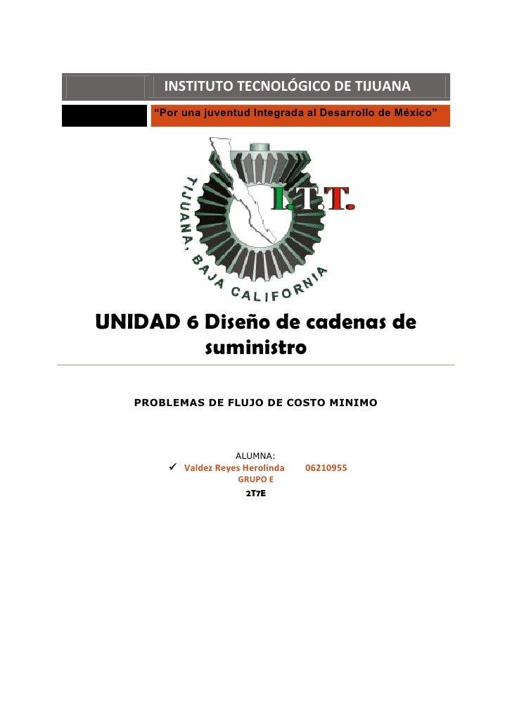 """INSTITUTO TECNOLÓGICO DE TIJUANA      """"Por una juventud Integrada al Desarrollo de México""""     UNIDAD 6 Diseño de cadenas ..."""