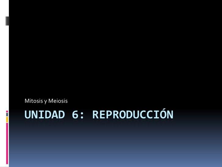 Unidad 6: REPRODUCCIÓN<br />Mitosis y Meiosis<br />