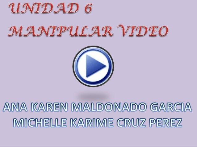 6.1 Importar video•Lo primero que deberemos hacer es transformar nuestro vídeo deformato avi, mpeg, mov, wmv o dv al forma...
