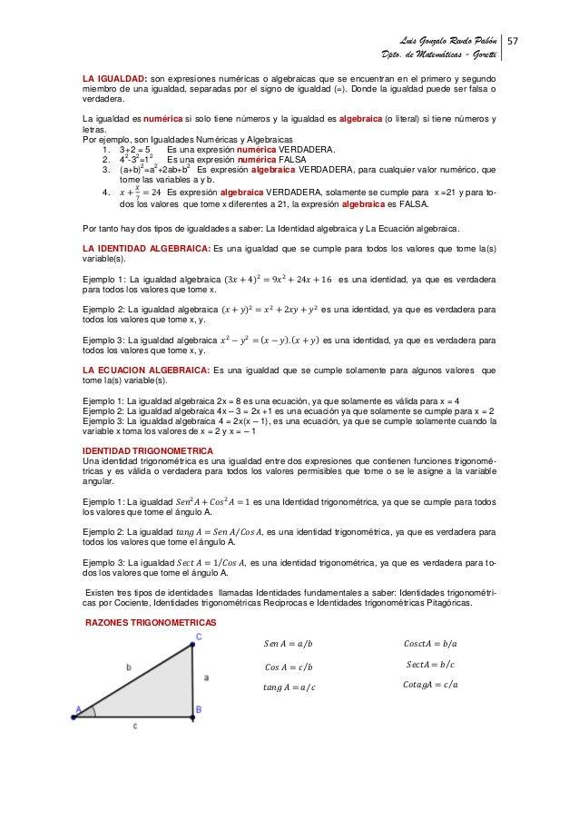 Unidad6. identidades y ecuaciones trigonometricas gonzalo revelo pabon