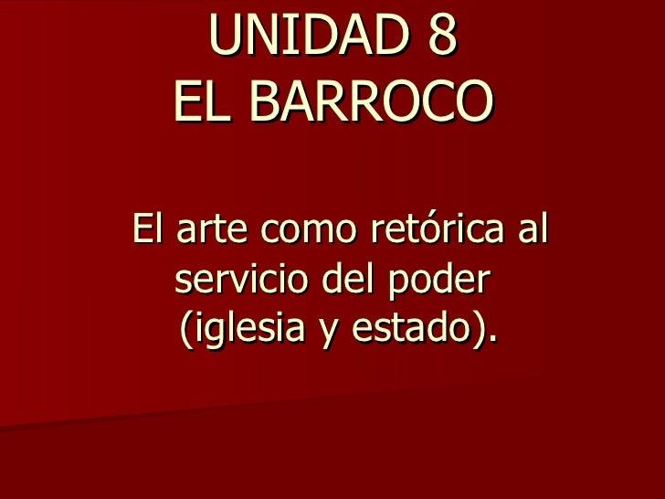 Unidad 8. Arte del barroco