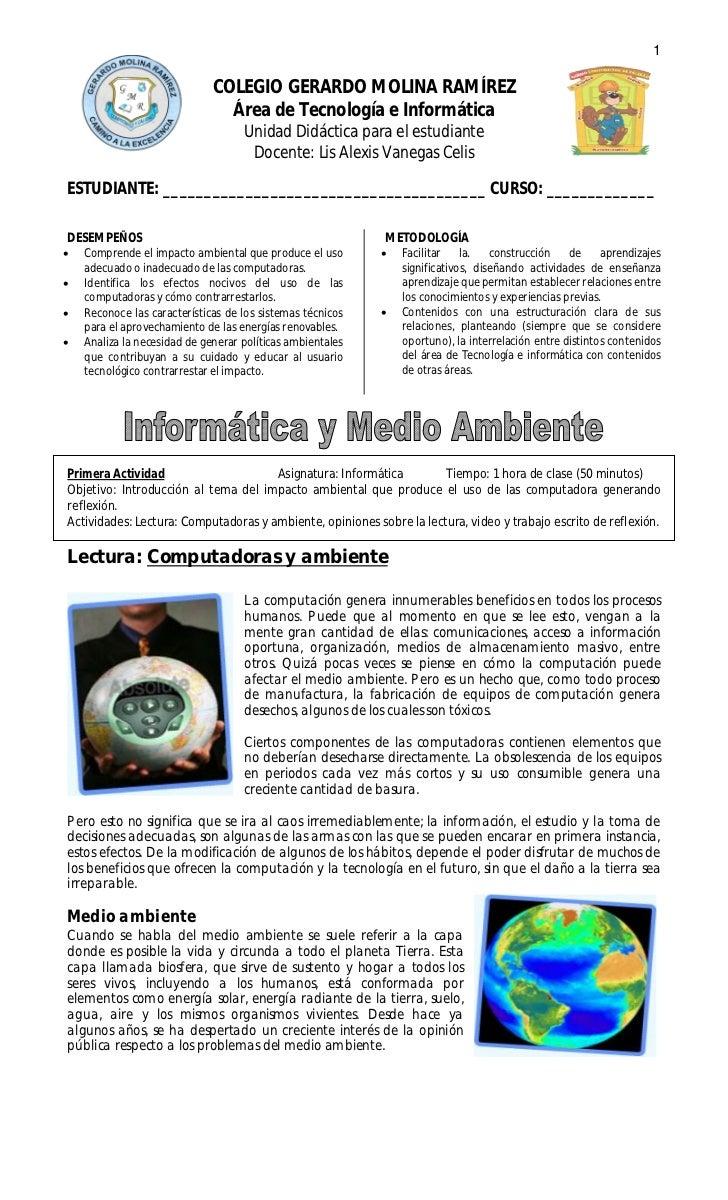1                              COLEGIO GERARDO MOLINA RAMÍREZ                                Área de Tecnología e Informát...