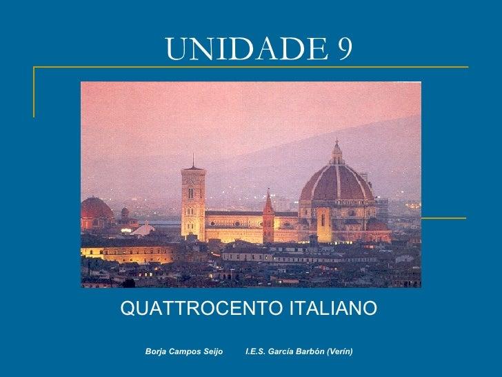 UNIDADE 9: Quattrocento italiano