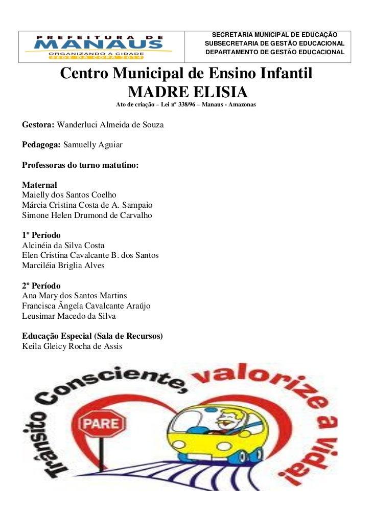 SECRETARIA MUNICIPAL DE EDUCAÇÃO                                                         SUBSECRETARIA DE GESTÃO EDUCACION...