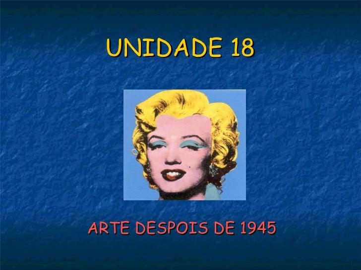 Unidade 18: pintura despois de 1945