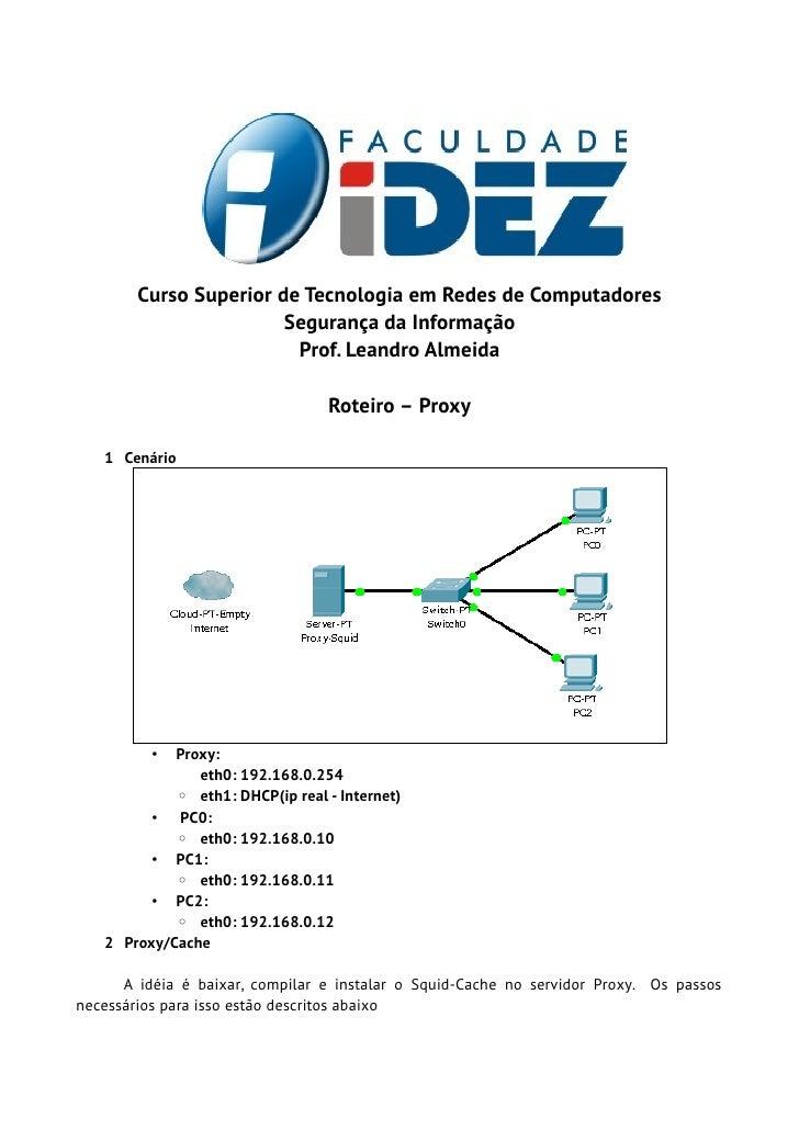 Curso Superior de Tecnologia em Redes de Computadores                        Segurança da Informação                      ...