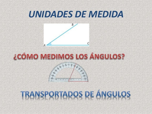 Unidades de medida ángulos