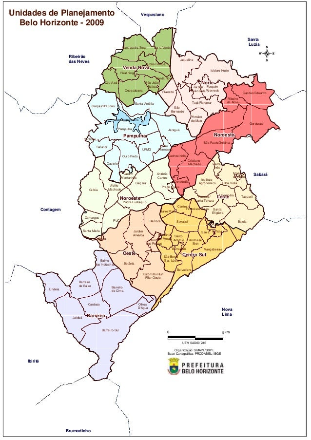 Unidades de planejamento de Belo Horizonte