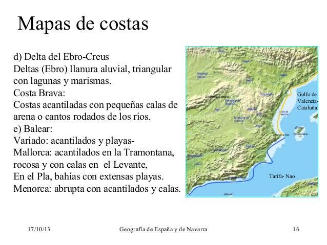 Delta Del Ebro Mapa Mapas de Costas d Delta Del
