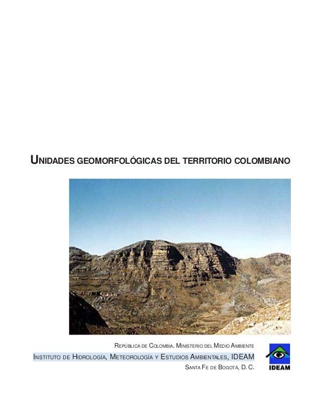 Unidades Geo Morfológicas Colombia