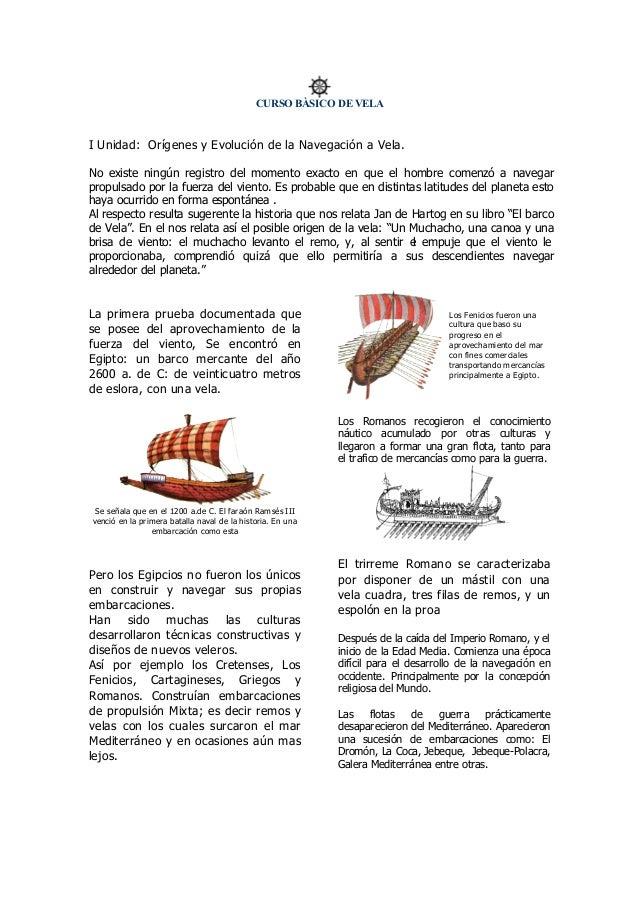 Unidad I - Curso de Navegacion a Vela