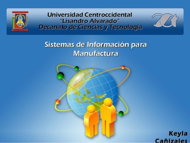 """Universidad CentroccidentalUniversidad Centroccidental """"Lisandro Alvarado""""""""Lisandro Alvarado"""" Decanato de Ciencias y Tecno..."""