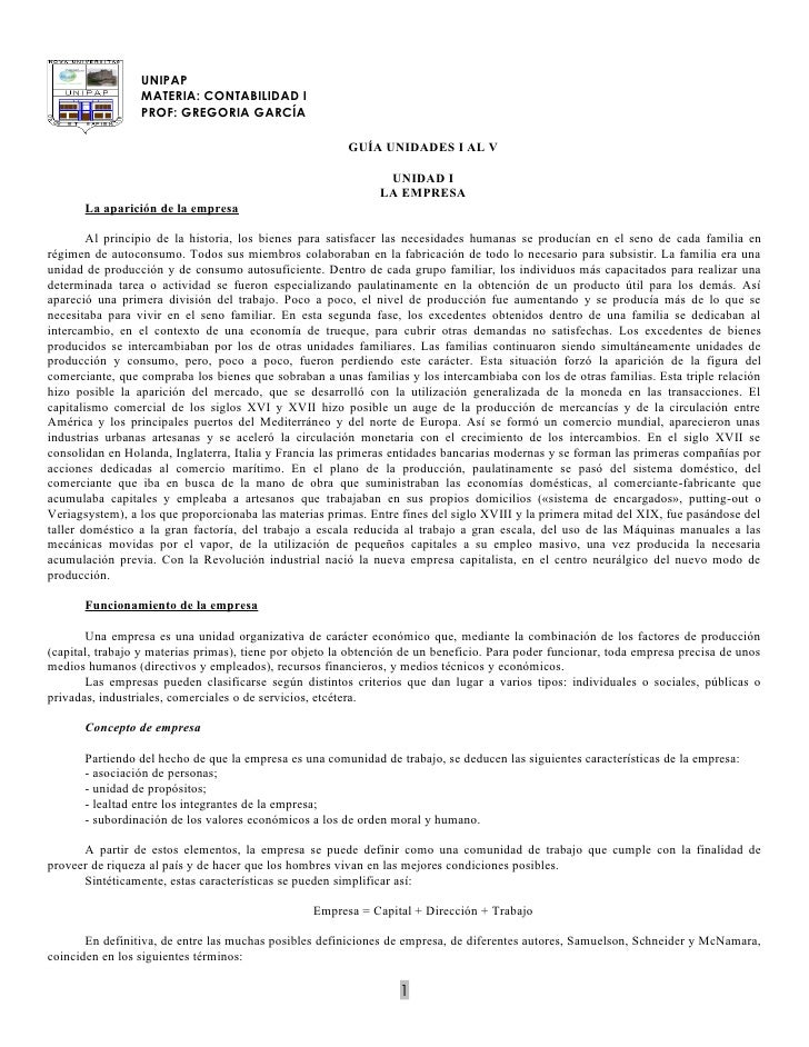 UNIPAP                  MATERIA: CONTABILIDAD I                  PROF: GREGORIA GARCÍA                                    ...