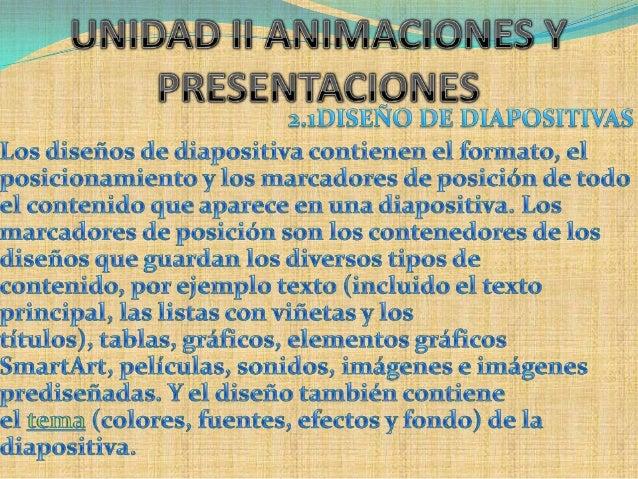 Unidad ii animaciones y presentaciones