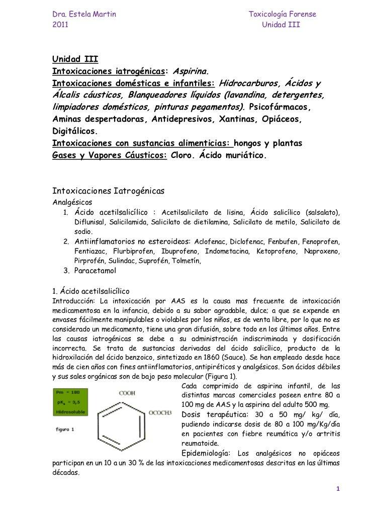 Dra. Estela Martin                                              Toxicología Forense2011                                   ...