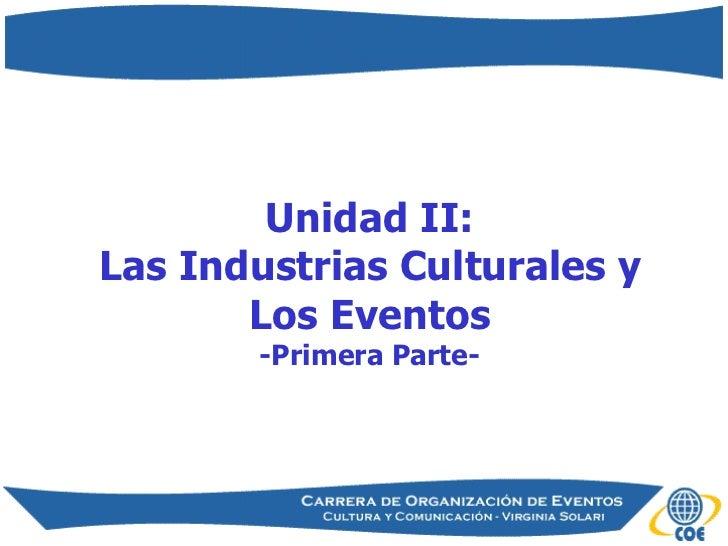 Introducción a las Industrias Culturales