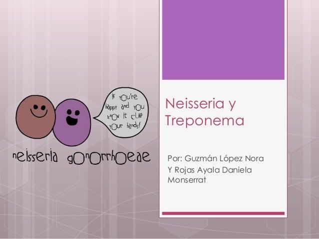 Neisseria y Treponema Por: Guzmán López Nora Y Rojas Ayala Daniela Monserrat