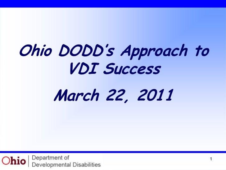 Unidesk and VMware Customer Webinar: Ohio Department of Developmental Disabilities
