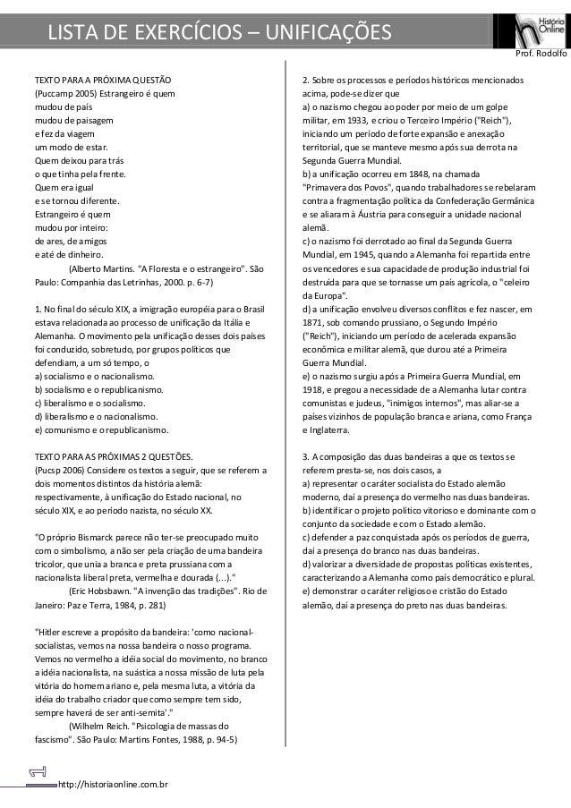 LISTA DE EXERCÍCIOS – UNIFICAÇÕES                                                                                         ...