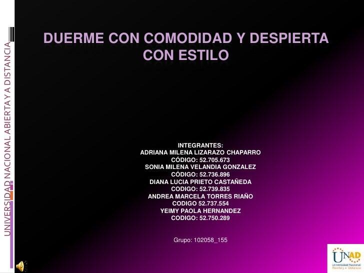DUERME CON COMODIDAD Y DESPIERTAUNIVERSIDAD NACIONAL ABIERTA Y A DISTANCIA                                                ...