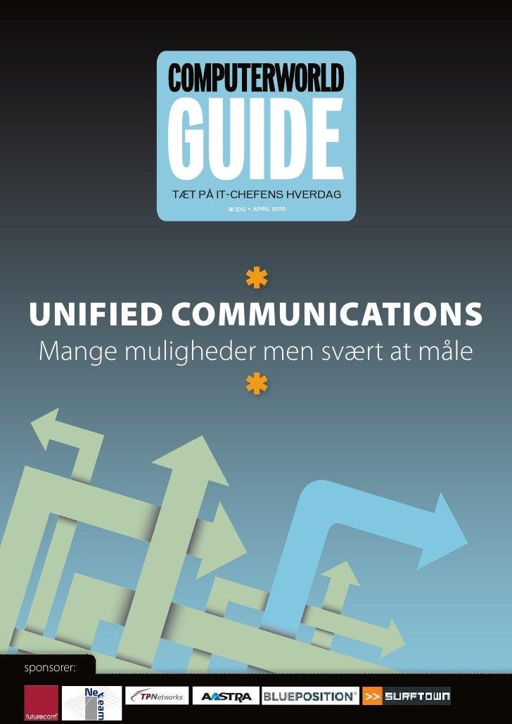 Unified Communications - Gevinster og udfordringer