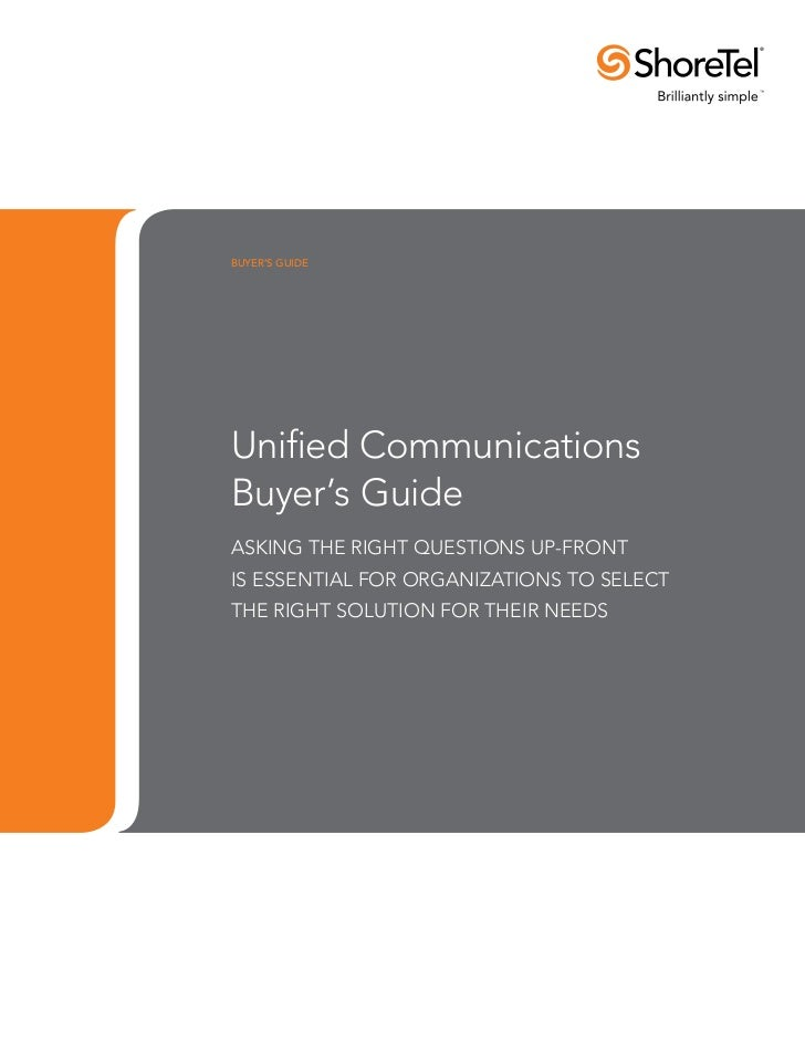 Unified Communications Buyers Guide
