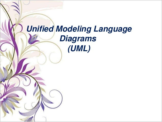 Unified modeling language diagrams