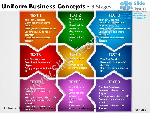Uniform Business Concepts - 9 Stages            TEXT 1                       TEXT 2                     TEXT 3       Your ...
