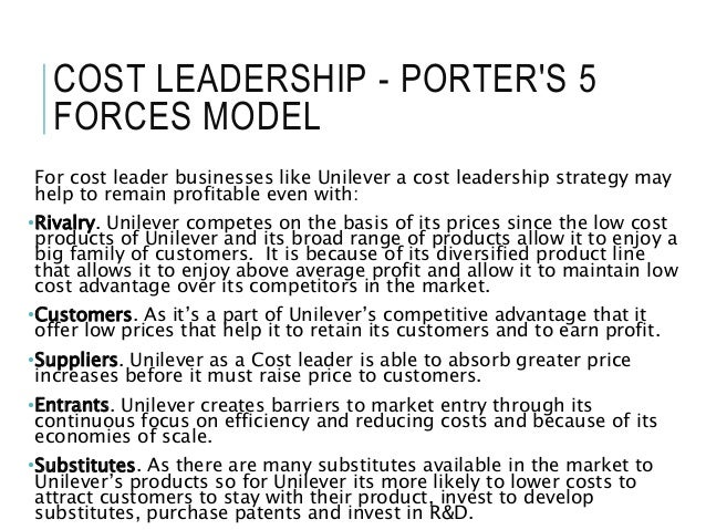 unilever cost differentiation strategy