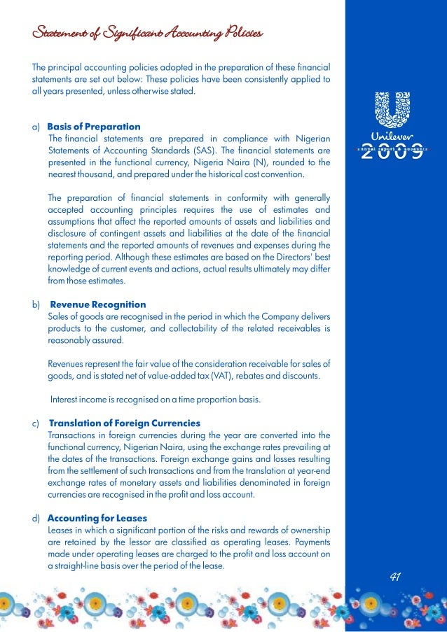 Unilever Annual Report 2009