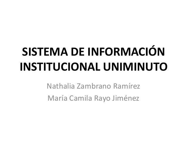 Sistema de Información Institucional Uniminuto