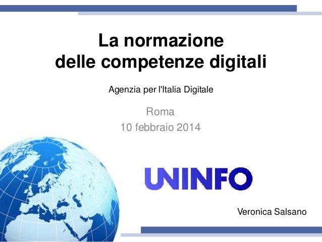 Audizione AgID: UNINFO e la normazione delle competenze digitali (VS)