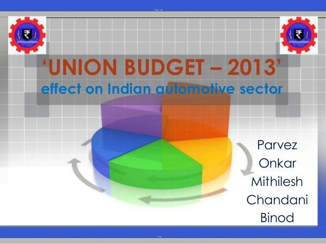 union budget 2013