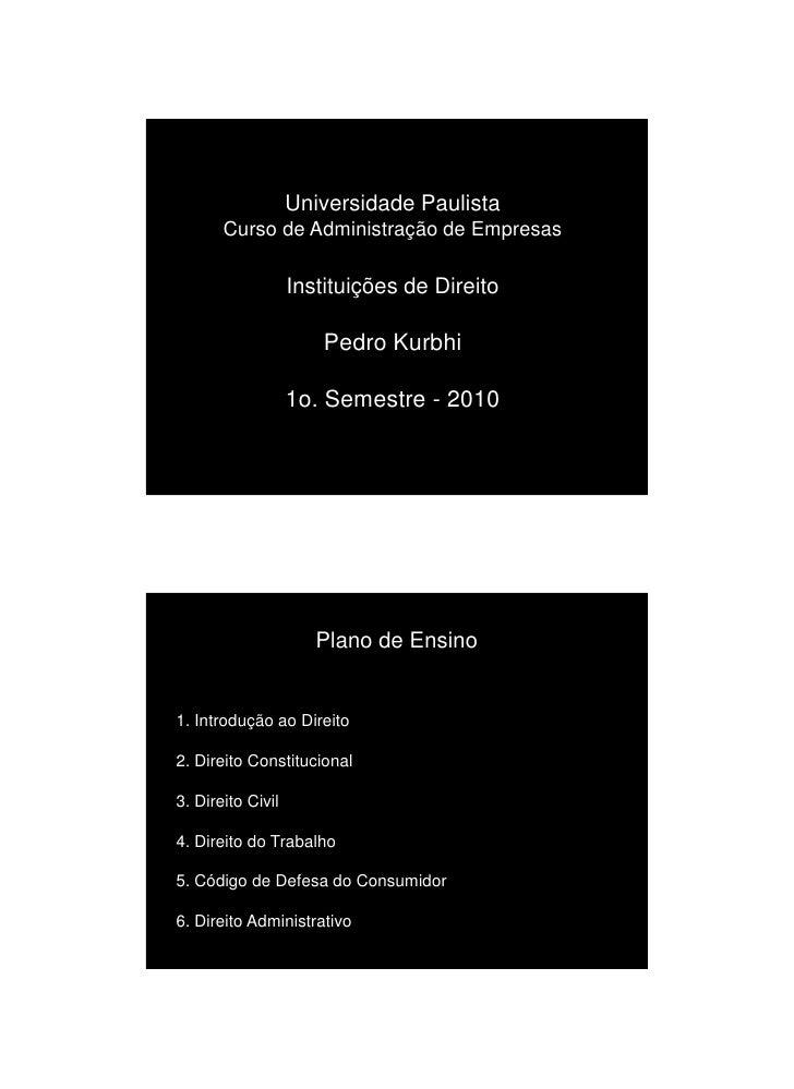 Unip   InstituiçõEs De Direito   100223b