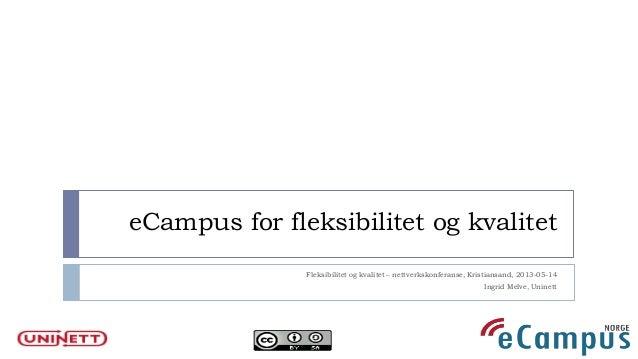 eCampus for fleksibel utdanning