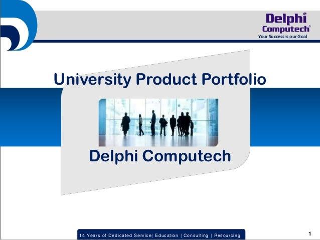 Uni Product Portfolio Delphi