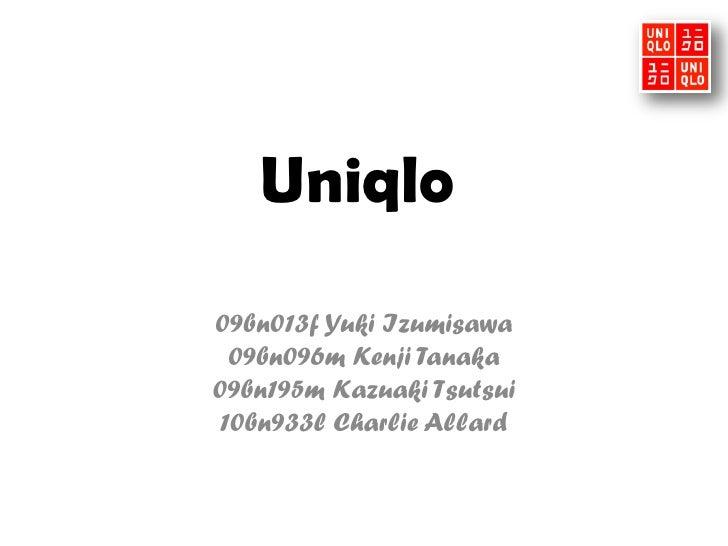 Uniqlo 09bn013f Yuki Izumisawa 09bn096m Kenji Tanaka 09bn195m Kazuaki Tsutsui 10bn933l Charlie Allard