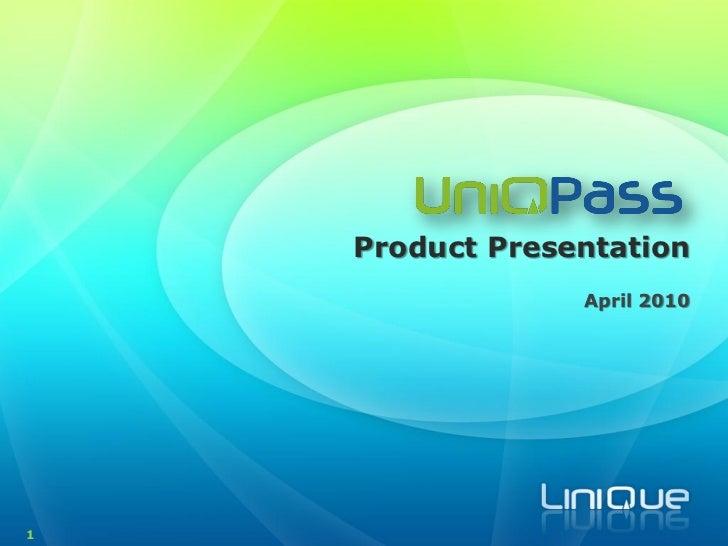 UniQPass Product Intro