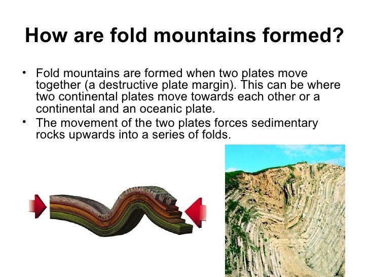 How are fold mountains formed ul li fold mountains are
