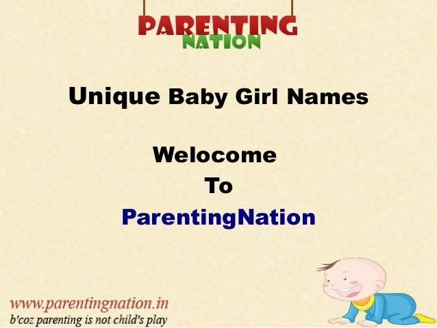 Baby Names For Girls Unique