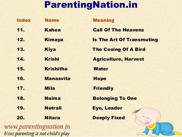 Parentingnation in index name unique girl names