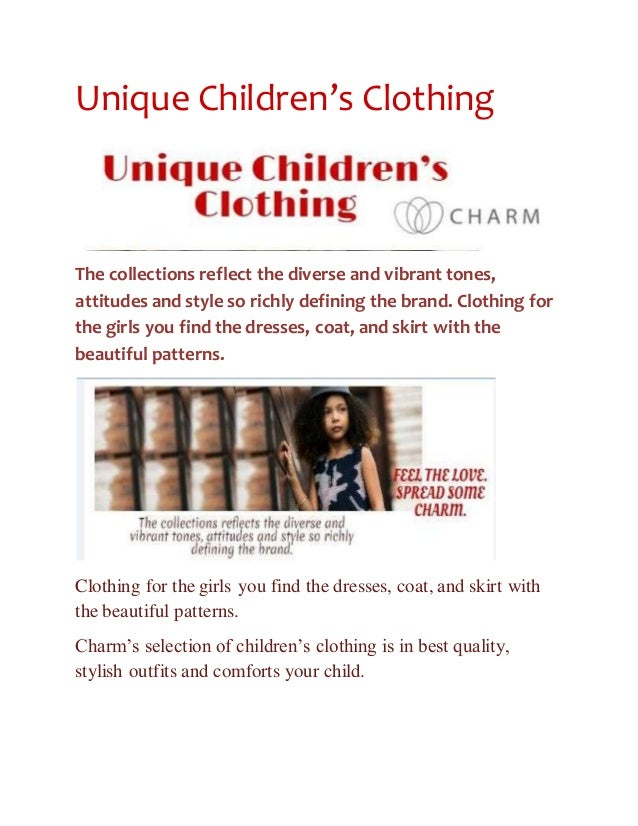Unique children s clothingthe collections reflect the erse and